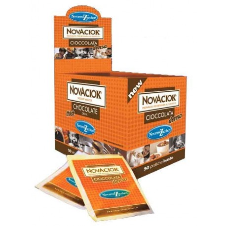 """Novaciok"" chocolate caliente - caja expositora"