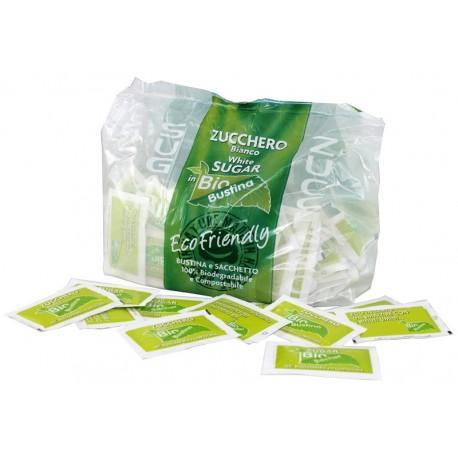 Zucchero bianco, imballo biodegradabile