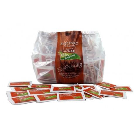 Azúcar de caña, envoltorio biodegradable