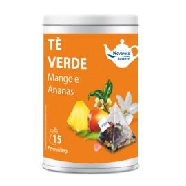 """Té verde """"Mango y Piña"""" – 15 bolsitas de té en lata"""