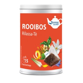 """Rooibos """"Rilassa-te"""" – 15 bolsitas de té en lata"""