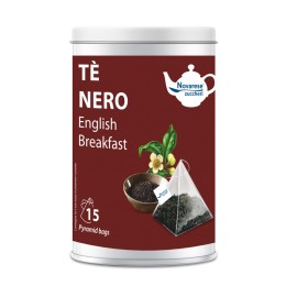 """TE' NERO """"ENGLISH BREAKFAST"""" 15 FILTRI IN BARATTOLO"""