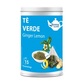 """Ginger Lemon"" green tea - 15 tea bags jar"