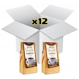 Cioccolata Classica e Fondente - Cartone da 12 sacchetti - Black Friday Edition