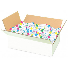 White sugar stick packets